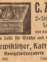 Reklama-parowej-fabryki-mydła-Dawida-Czwiklitzera