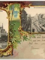 Karta-pocztowa-do-1905-r.-Katowice-kościół-Mariacki-ob.-ul.-3-Maja